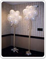 Globe Floor Bouquet with Mini Balloon Weights